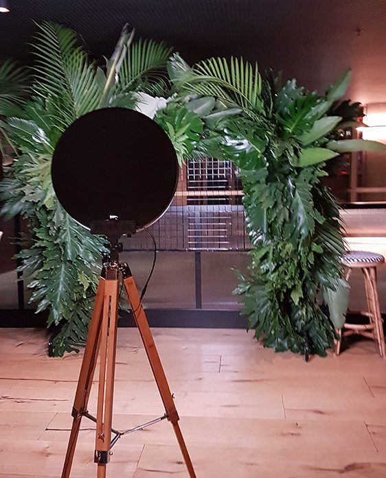GIF Booth with green foliage background